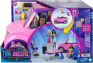 """Barbie GYJ25 - """"Bühne frei für große Träume"""" Fahrzeug-Spielset, pinker SUV, Zweisitzer mit Bühne, Schlagzeug und Zubehörte..."""