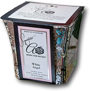 Aroma From Nature White Angel 11 oz Mercury Collection Scented Candle - 1 Pack - Aromatherapy Home Fragrance - Apothecary ...