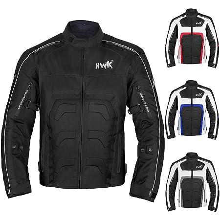 Textile Motorcycle Jacket For Men Dualsport Enduro Motorbike Biker Riding Jacket Breathable CE ARMORED WATERPROOF (Black, L)