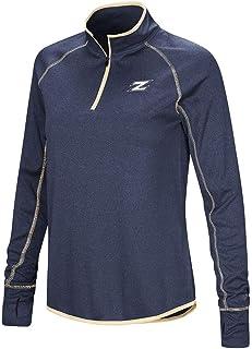 Colosseum Womens Akron Zips Quarter Zip Long Sleeve Shirt