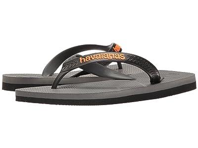 Havaianas Casual Flip Flops (Steel Grey/Black) Men