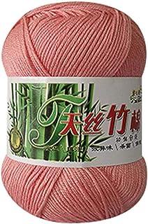 biggroup 5 Rolls Colorful Soft Bamboo Fiber Cotton Yarn, Han
