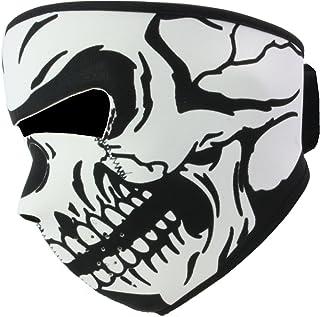 スカル マスク サバゲー リバーシブル 防寒 防風 ネオプレーン素材 髑髏 骸骨 白スカル