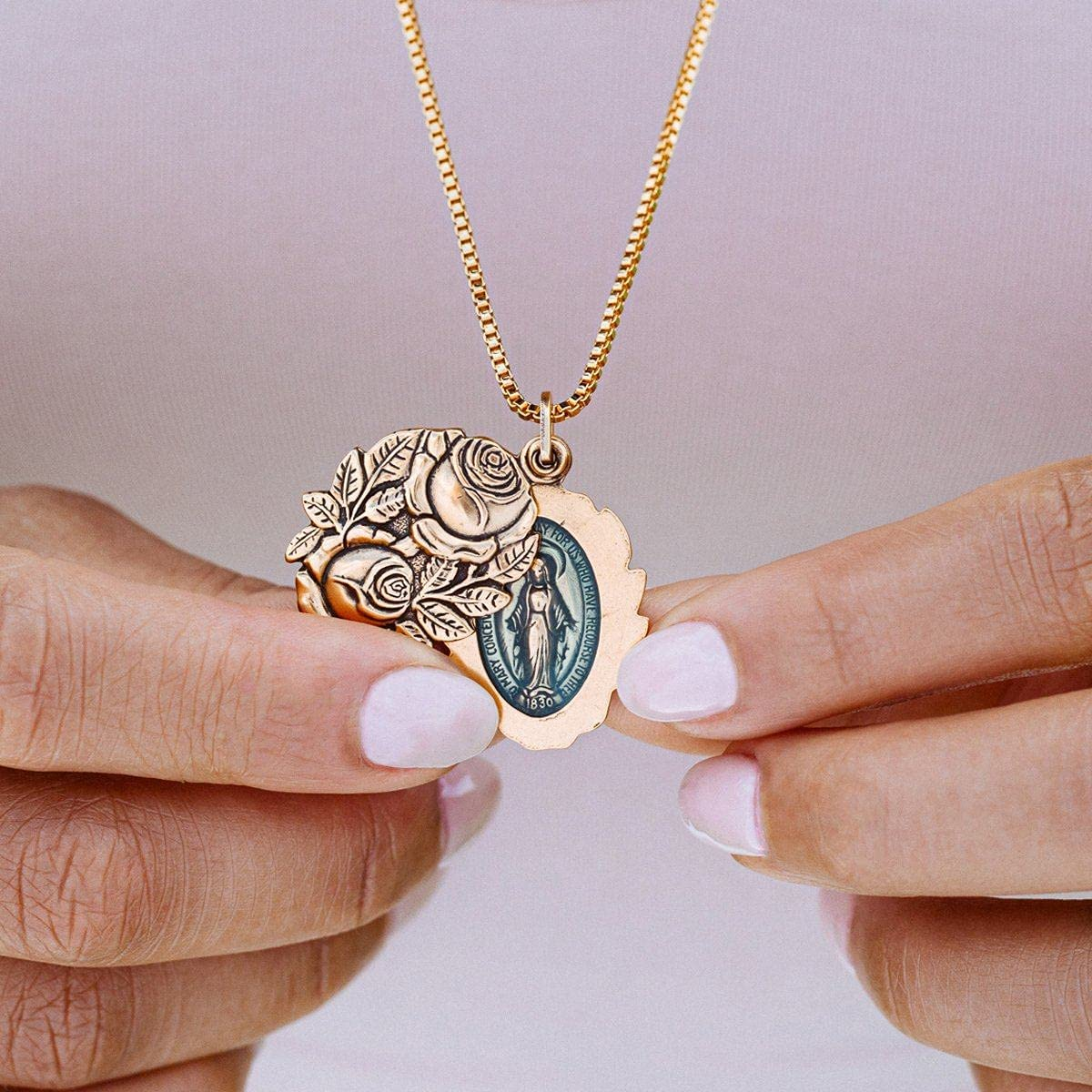 Luca + Danni   Miraculous Locket Necklace For Women Made in USA