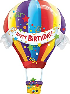 Mayflower Products Happy Birthday Hot Air Balloon Jumbo Foil Balloon (Multi-Colored) Party Accessory