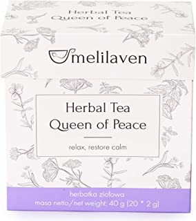 Tisane Melilaven avec Mélisse, Tilleul, Verveine Citronnée, Fleurs de Lavande (4 packs, 80 sachets)