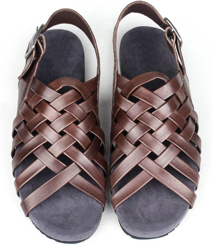 FASHION BOOTS Roman Woven Men's Sandals Leisure Sandals Trend Men's Leather Sandals Beach shoes