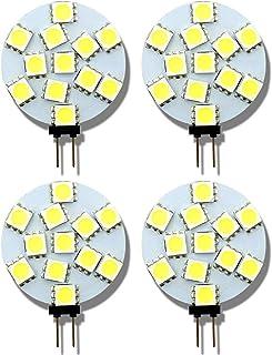G4 Bombillas LED 12 V DC 2 W (20 W) blanco frío G4 foco para la casa RV paisaje coche armario de iluminación 120° redondo – Juego de 4