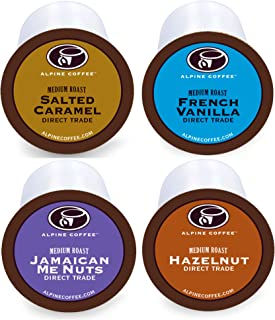 Flavored Coffee K Cups Variety Pack - 40 Count Flavored K Cups Coffee - 33% MORE COFFEE - Salted Caramel, French Vanilla, Jamaican Me Nuts, Hazelnut