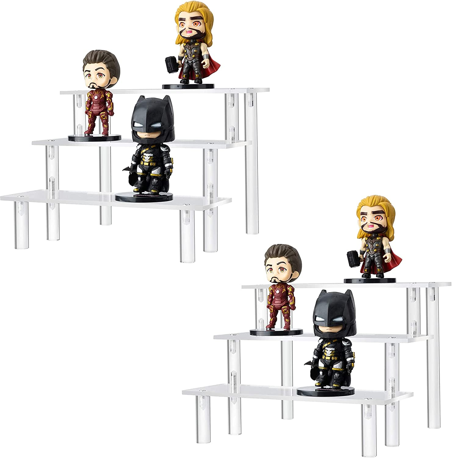 HERO MOOSE Clear Acrylic Riser Stand 2 Shelf Display of Ranking TOP3 Set for free shipping