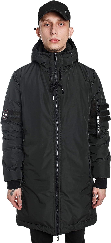 Men's Parka Winter Coats Long 新商品 Jacket Lo Warm 送料無料新品 Hooded