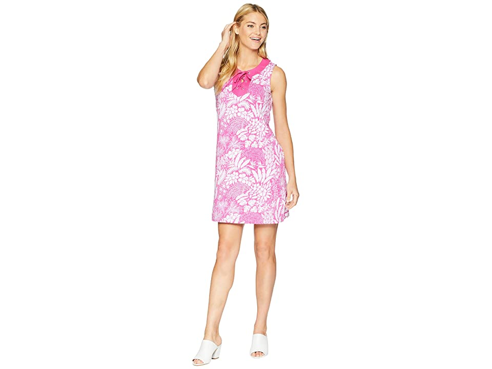 Tommy Bahama Flora Lucia Tie-Front Dress (Very Berry) Women