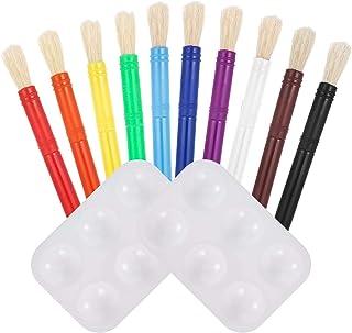 Firtink 12 St/ück Malpinsel Set Kinderpinsel-Set f/ür Farbset Bunte Kleinkinder Pinsel f/ür Kinder Schule Klassenzimmer Kunstunterricht und Malpart