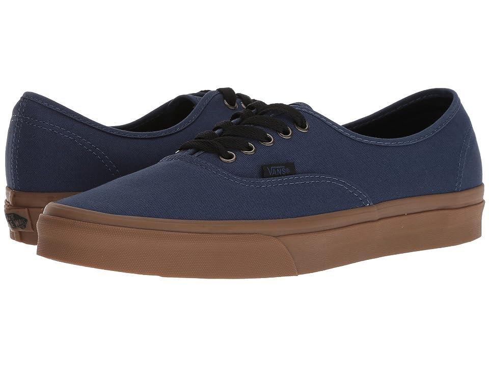 Vans Authentictm ((Gum Outsole) Dark Denim/Black) Skate Shoes