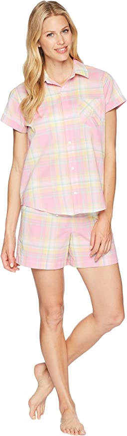 LAUREN Ralph Lauren Camp Shirt Boxer Pajama Set