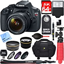Canon EOS Rebel T5 18MP SLR Digital Camera and EF-S 18-55mm IS II Lens Kit Bundle with 64GB SDXC Memory and Accessories