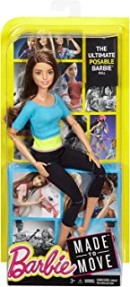 Barbie Made to Move Brunette Blue Top Doll