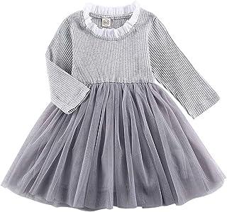 فستان شتوي للبنات الصغار فستان مكشكش توتو بأكمام طويلة ملابس الأطفال الرضع لمدة 1-5 سنوات