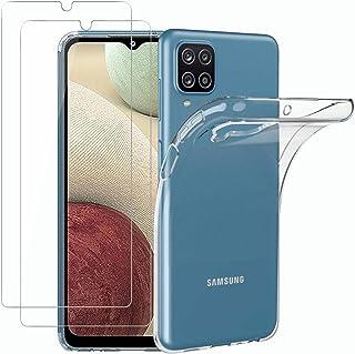 NEW'C Hoesje voor Samsung Galaxy A12 Ultra Transparante Siliconen Soft TPU Gel en 2× Screen Protector voor Samsung Galaxy ...