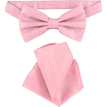 Vesuvio Napoli SELF TIE Bow Tie HOT PINK FUCHSIA PAISLEY Design Mens BowTie