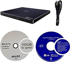 LG 6X WP50NB40 Ultra Slim Portable Blu-ray Burner Bundle with 100GB BDXL Disc and Cyberlink Burning Software