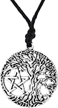 Viking Talisman Rune Celtic Tree of Life Yggdrasil Pentagram Pendant World Tree Necklace for Women