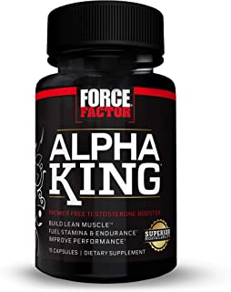 Alpha King Total Testosterone Booster Supplement for Men with Fenugreek Seed, Black Maca, and Tribulus to Build Lean Muscl...
