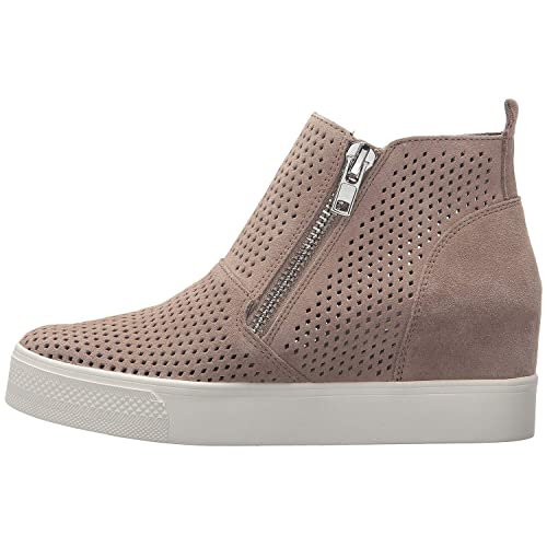 save off 28905 58e8c Womens Wedgie Sneakers Platform Hollow Out High Top Mid Heel Side Zip Wedge  Booties