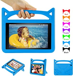 iPad Mini 5 Kids Case, iPad Mini Case for Kids - Auorld Freestanding with Handle Lightweight EVA Foam Case for Apple iPad Mini 4 3 2 1 7.9 inch - Blue