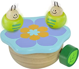 I'm Wooden Music Box Mechanism - Rock n Roll Dancing Bug on Flower Playing Minuet No.3 for Kids (Caterpillar)