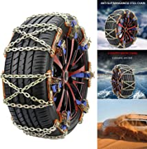LOVFASHION 1PC Wear-Resistant Steel Auto Anti-Skid Wheel Tire Snow Chains for Car Truck Emergency Winter Universal