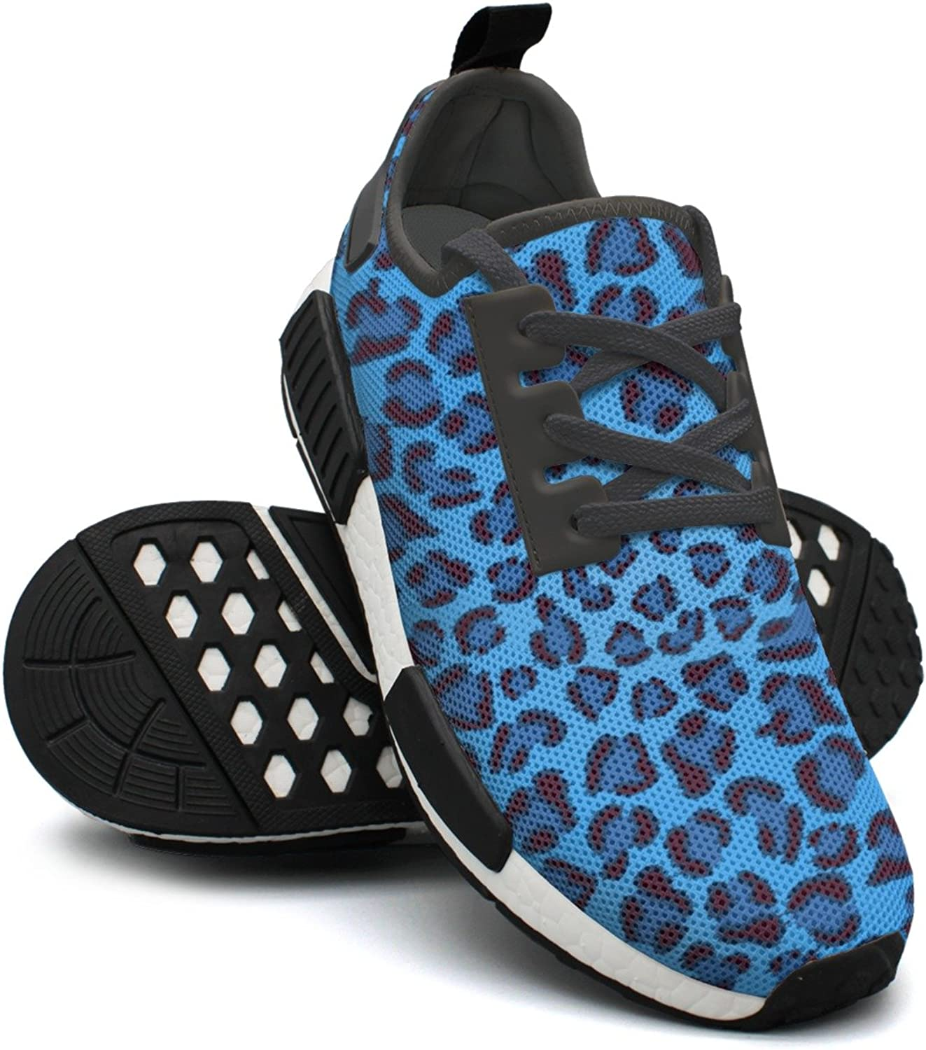 bluee Leopard Print Gym Jogging shoes for Women NMD