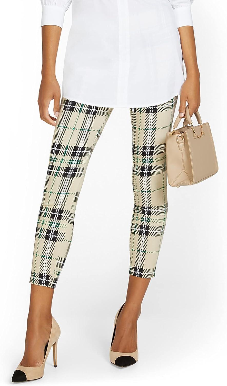 New York & Co. Petite Whitney High-Waisted Slim-Leg Ankle Pant - Plaid