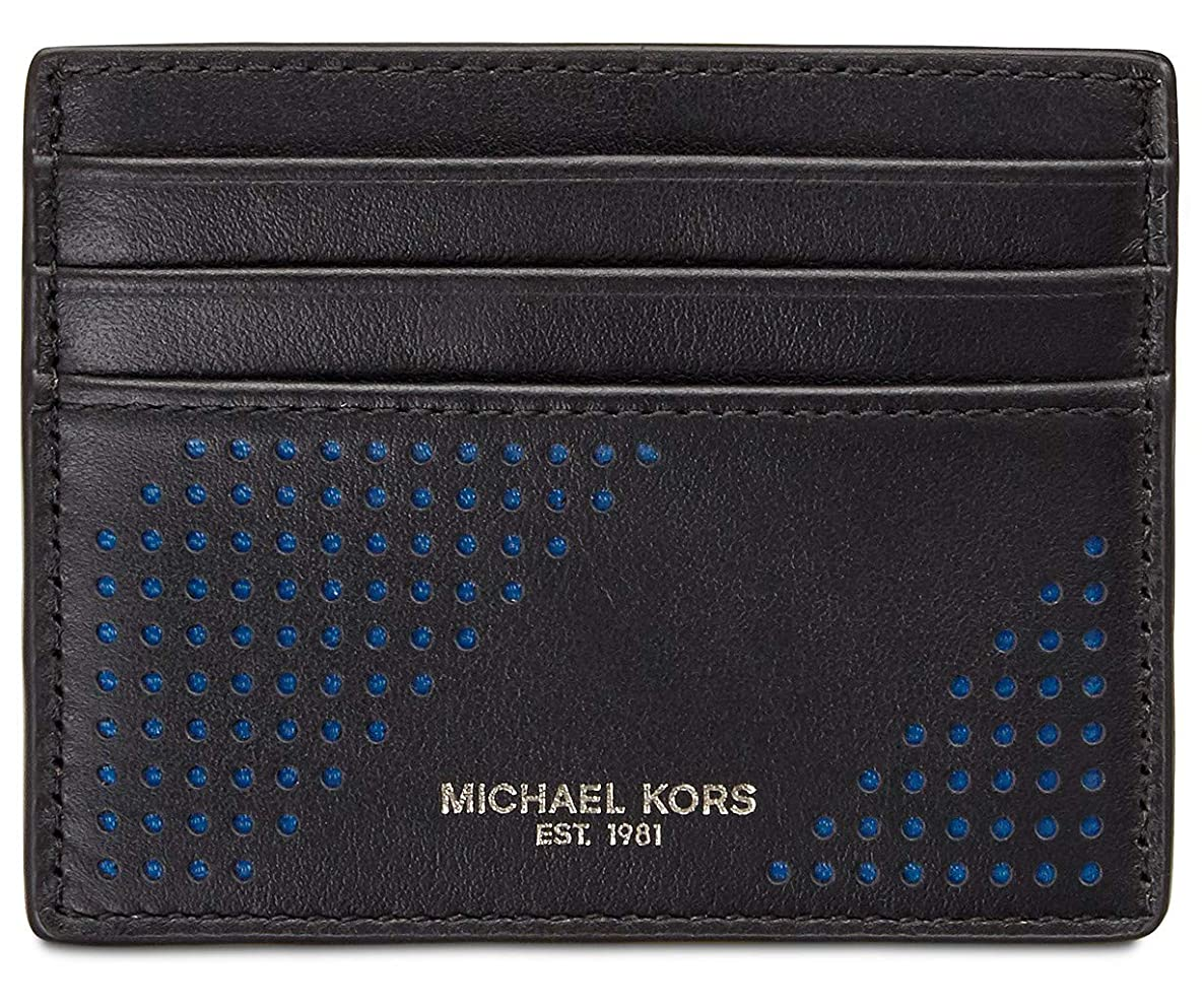 Michael Kors Men`s Perforated Leather Card Case