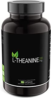 L-Theanine 200mg — 150 Count (V-Capsules) / 150 Servings: Manufactured in a cGMP-Registered Facility in USA...
