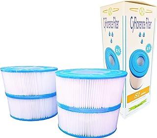 Juego de 4 filtros de SPA hinchables Intex tipo S1, 4 cartuchos de filtrado para SPA, protección antibacterias, 7,3cm de altura, diámetro: 10,8cm, diámetro del orificio: 4,2cm
