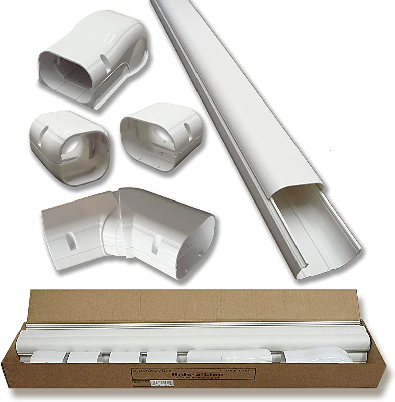Hide A Line 4 14 Ft Mini Split And Central Air Conditioner Heat Pump Line Set Cover Kit Decorative Tubing Cover