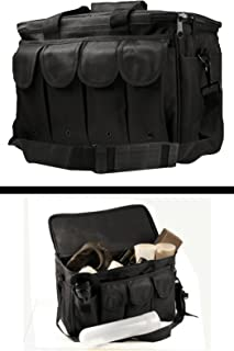 Ultimate Arms Gear New Generation Stealth Black Equipment Shooting Range Pistol Handgun Gun Rifle 8 Magazine Mag Pouch Holder Hunting Law Enforcement Security Gear Carry Travel Pack Bag