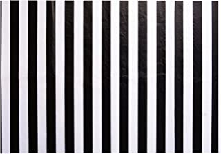 Shappy Stripes Tissue Paper Stripes Wrapping Paper, 28 Inch by 20 Inch, 30 Sheets (Black and White)