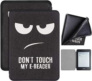 Capa Kindle Paperwhite 10ª geração à prova d'água - Função Liga/Desliga - Fechamento magnético - Silicone - Don't Touch My...
