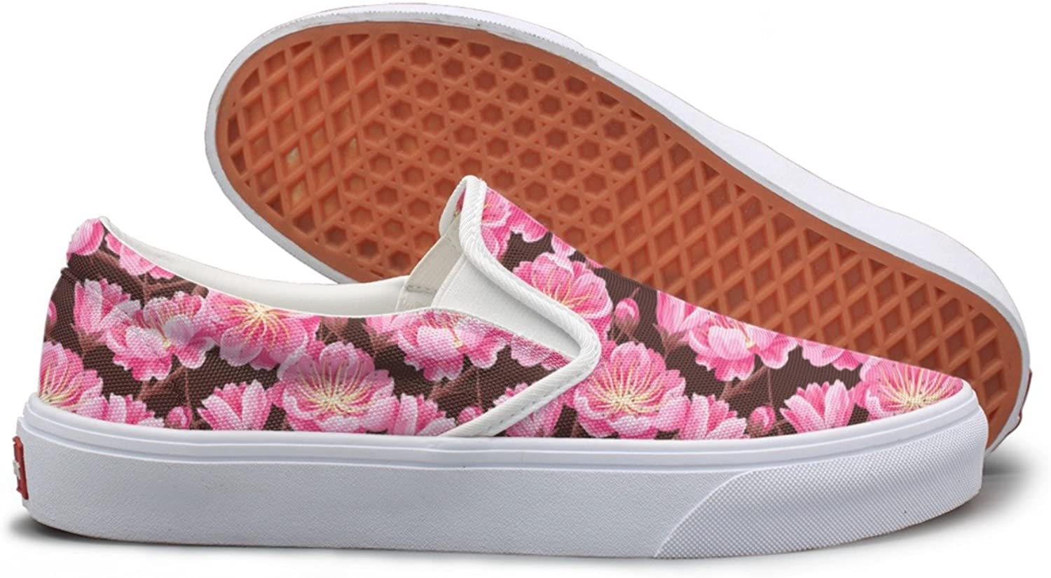 Casual Cherry Blossom Stems Women's Canvas shoes