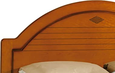 Destock Meubles Lit merisier 90 x 190 dossier haut dôme