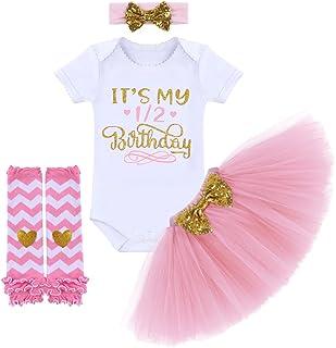 ee77e16c2 Baby Girls It's My 1st/ 2nd Birthday Cake Smash Outfit Romper Tutu Skirt  Headband Leg