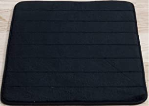 Black Memory Foam Bath Mat-Incredibly Soft and Absorbent Rug, Cozy Velvet Non-Slip Mats Use for Kitchen or Bathroom (17 In...
