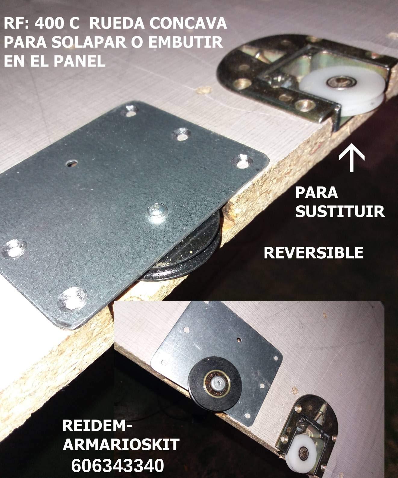 RUEDAS PUERTAS ARMARIO CORREDERA: Amazon.es: Bricolaje y herramientas
