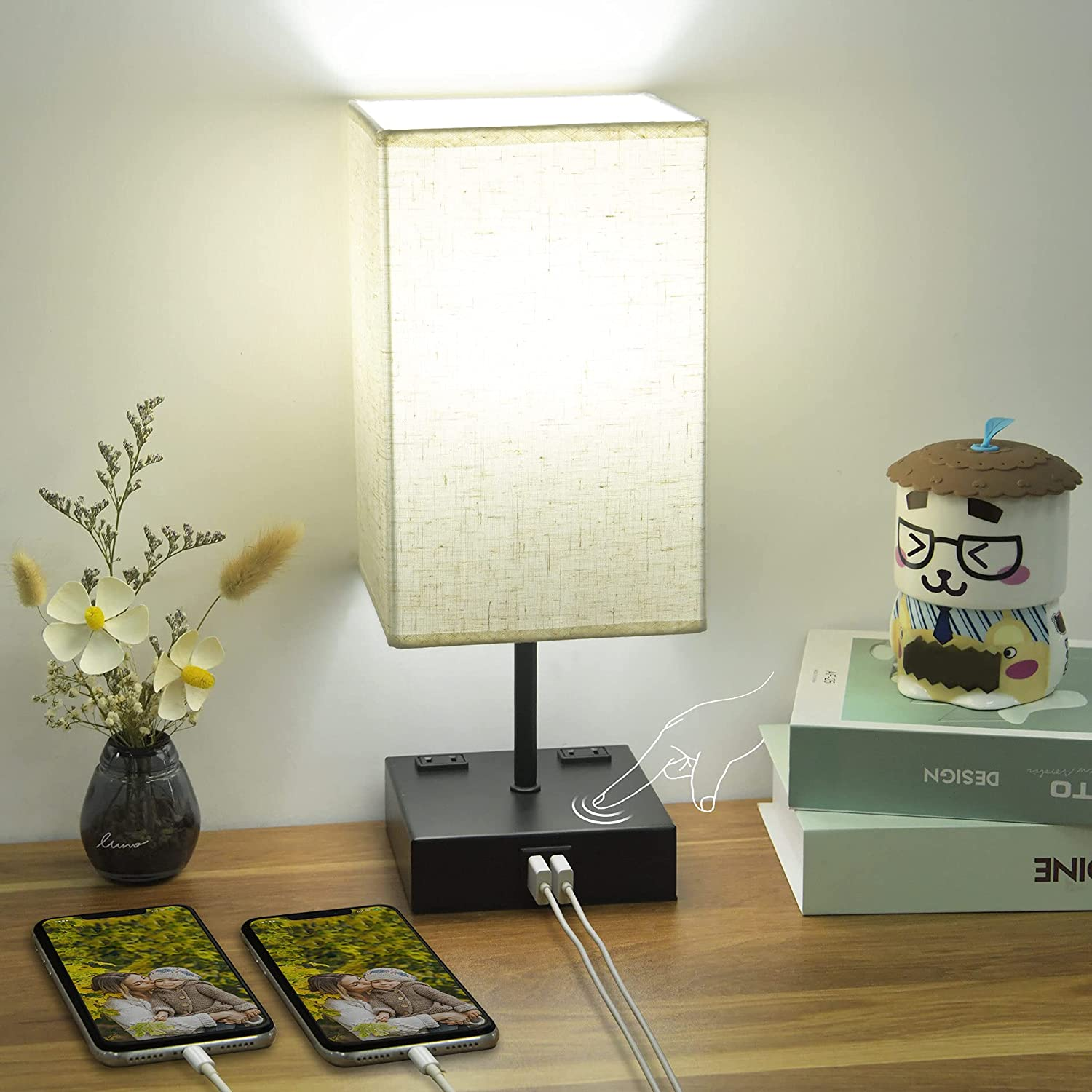3-Way Dimmable Touch Sales for sale Selling rankings Control Bedside Lamp Cotanic Table