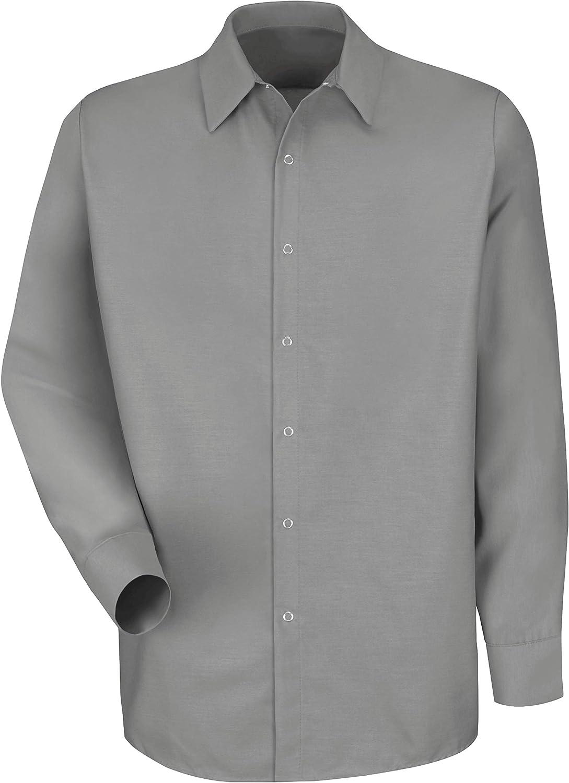 Red Kap Men's Rk Specialized Pocketless Work Shirt