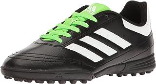 adidas  Boys' Goletto VI TF J Soccer Shoe, Black/White/Solar Green, 3 M US Little Kid