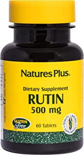 NaturesPlus Rutin 500 mg - 60 Vegetarian Tablets - Vascular & Blood Health Bioflavonoid Supplement - Supports Healthy Capi...