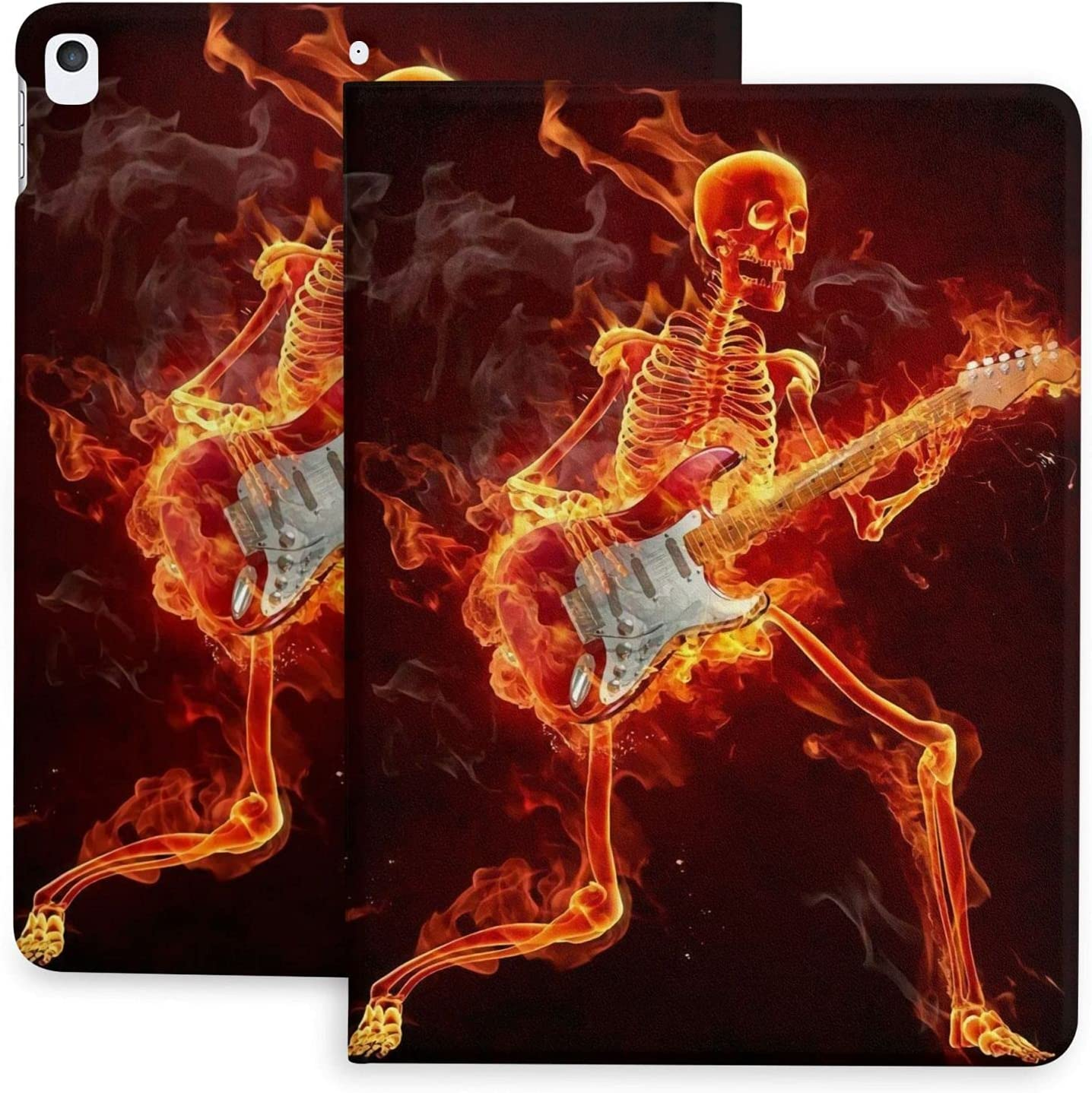 Unique Flaming Skeleton Play Guitar Max 45% OFF 2020 Case Virginia Beach Mall Pad Casual Key